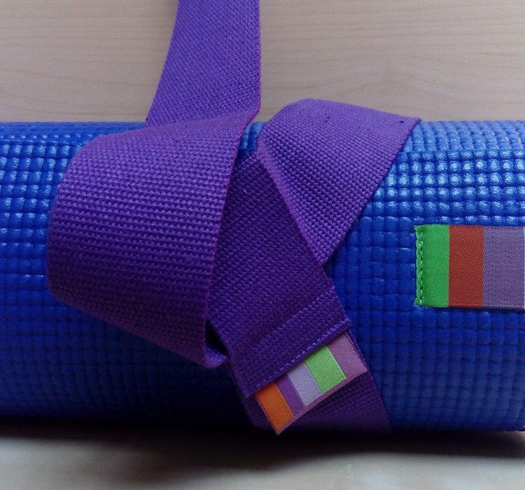 лента за съхранение на йога постелка
