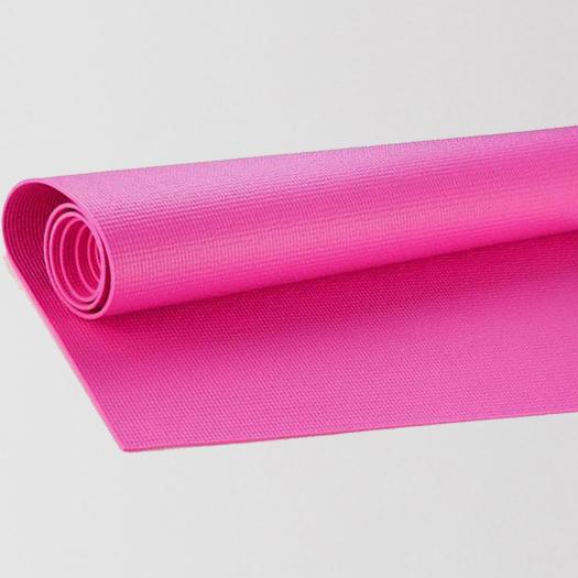 розова постелка за йога